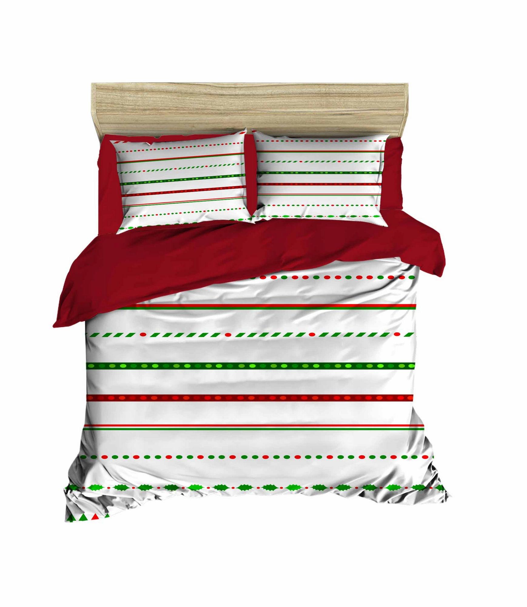 Lenjerie de pat din bumbac si microfibra Christmas 458 Multicolor, 200 x 220 cm