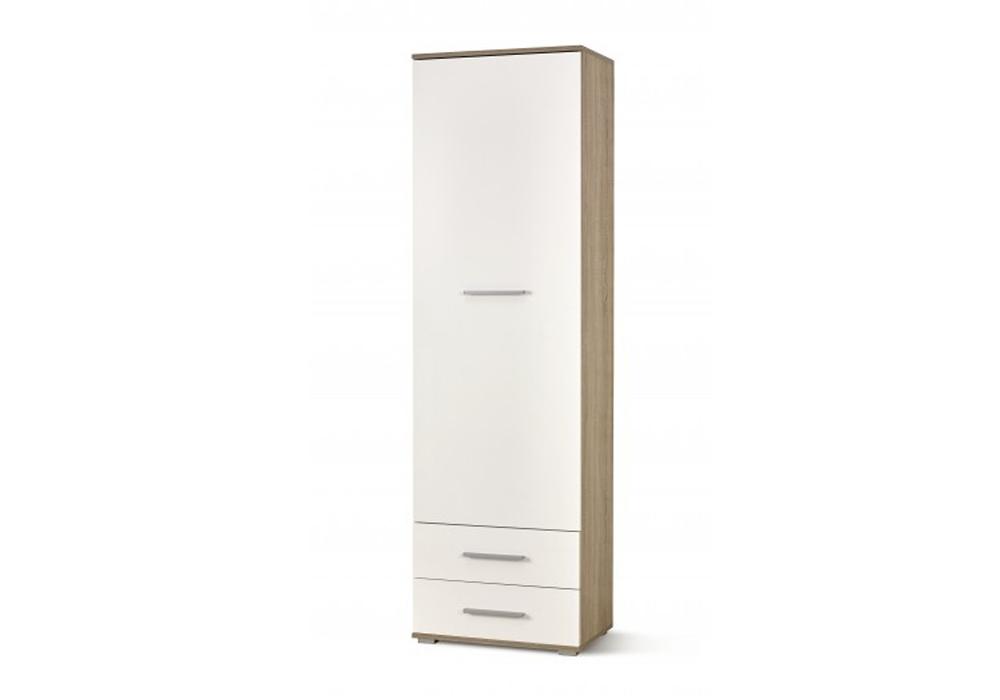 Dulap Lima Reg-1 White / Oak l60xA40xH200 cm
