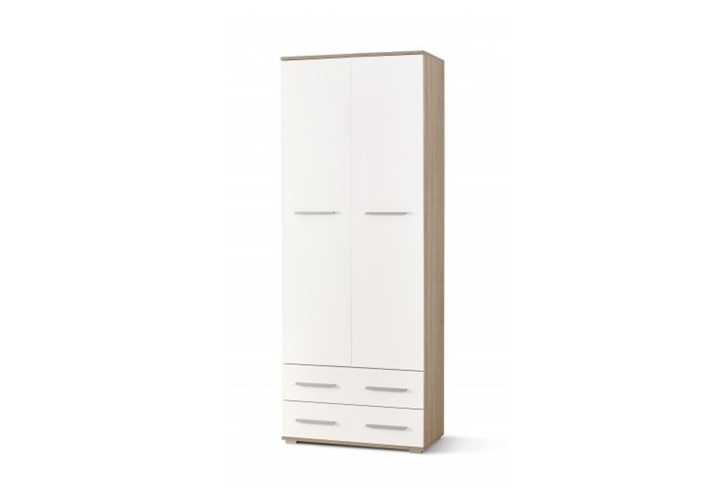 Dulap Lima Reg-2 White / Oak l77xA40xH200 cm