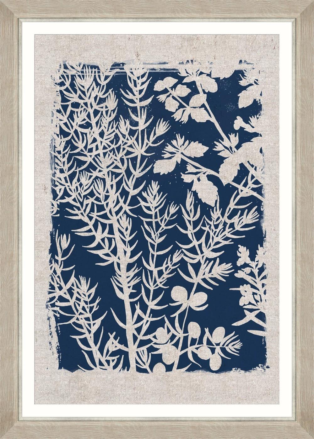 Tablou Framed Art Linocut Florals I
