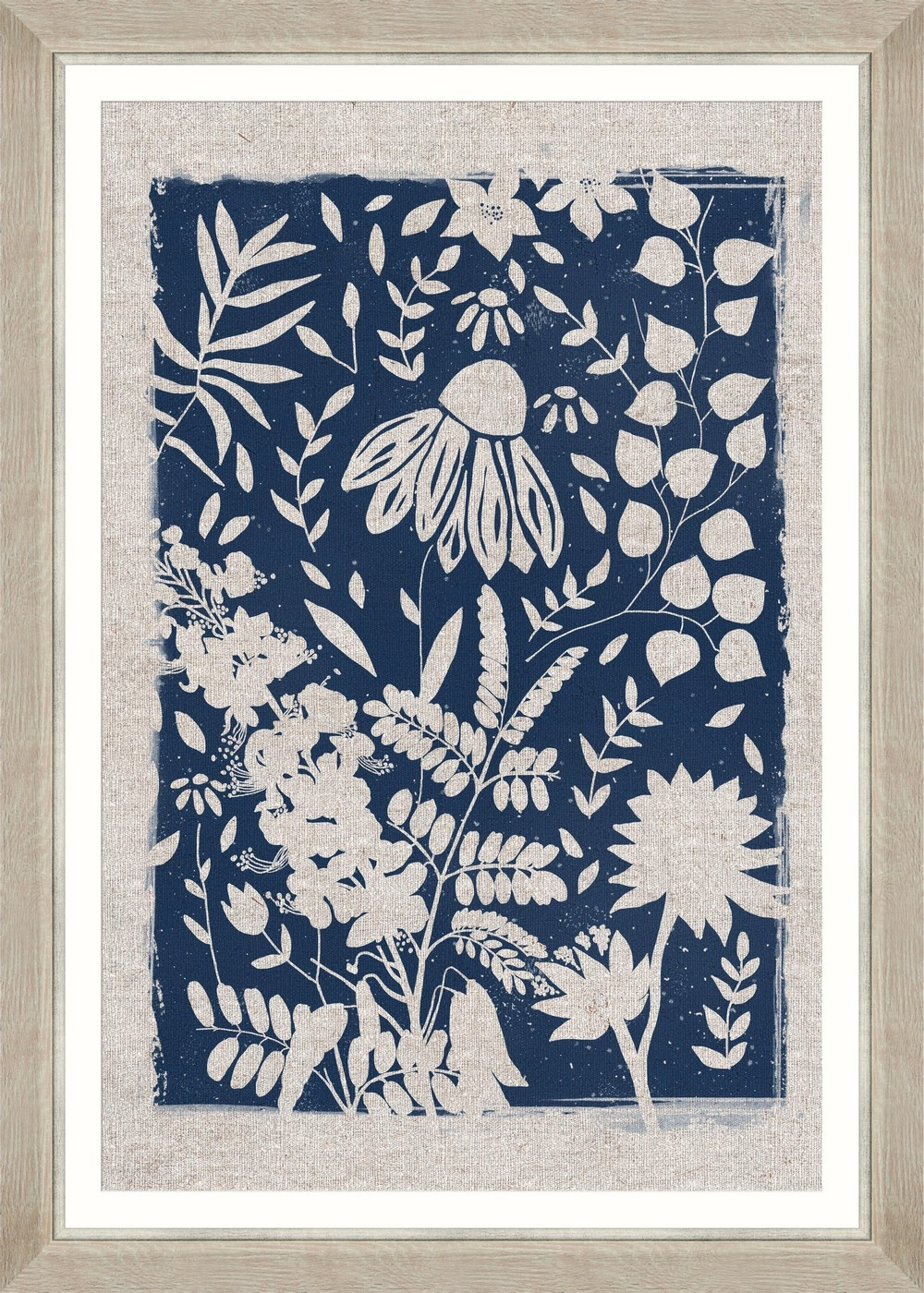 Tablou Framed Art Linocut Florals III