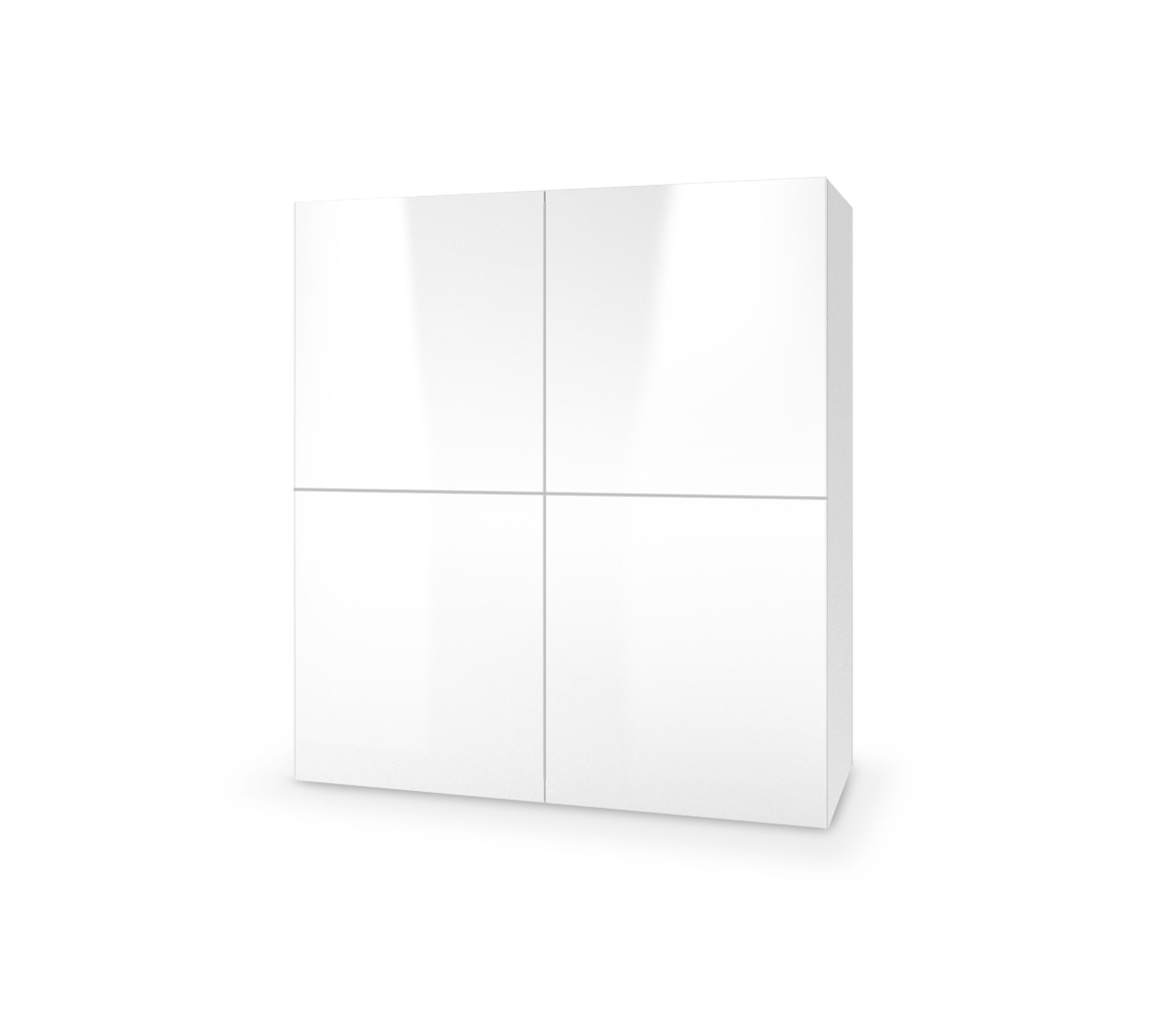 Dulap din MDF Livo KM-100 White, l100xA29xH100 cm imagine
