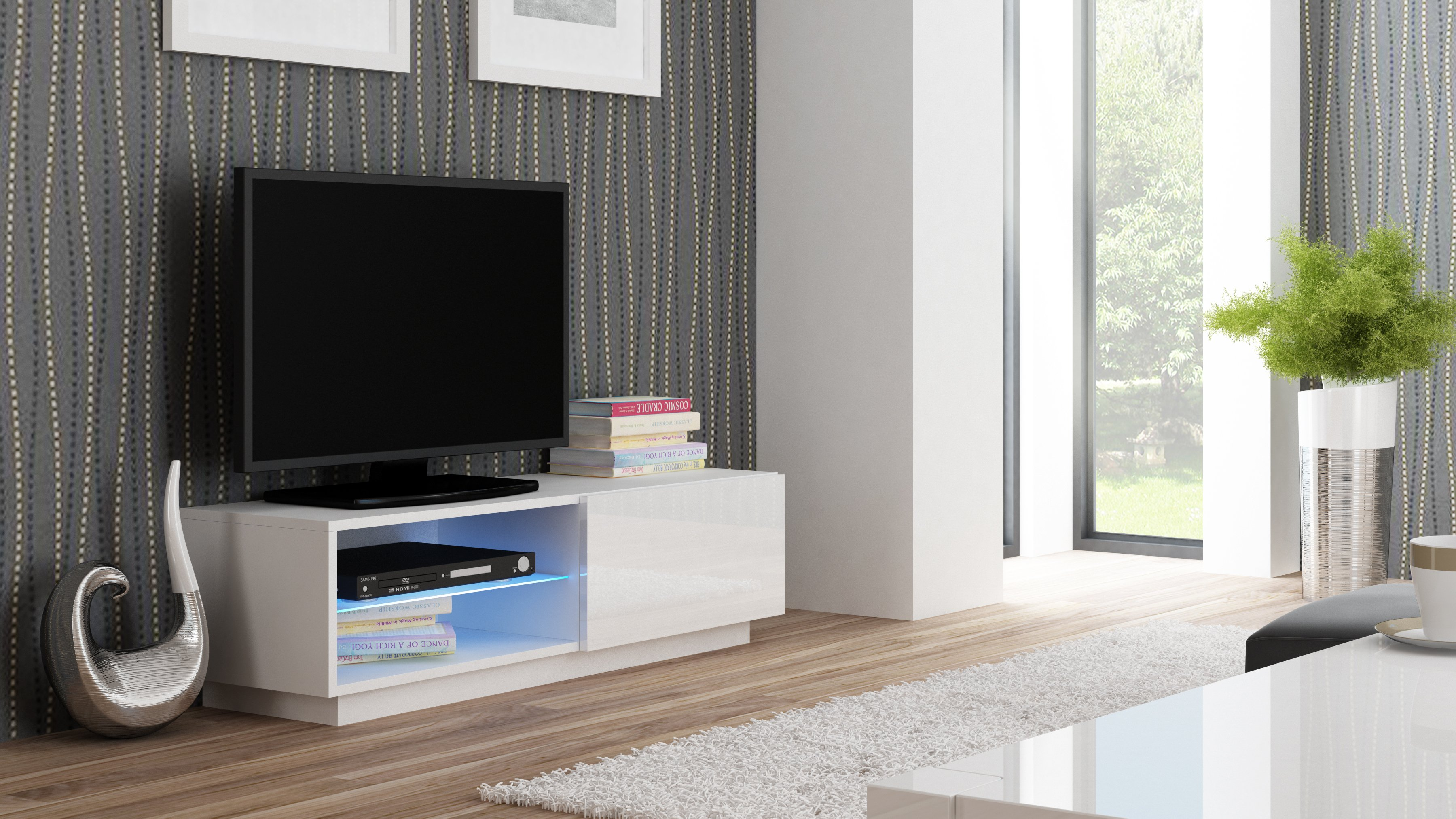 Comoda Tv Din Mdf Livo Rtv-120s White