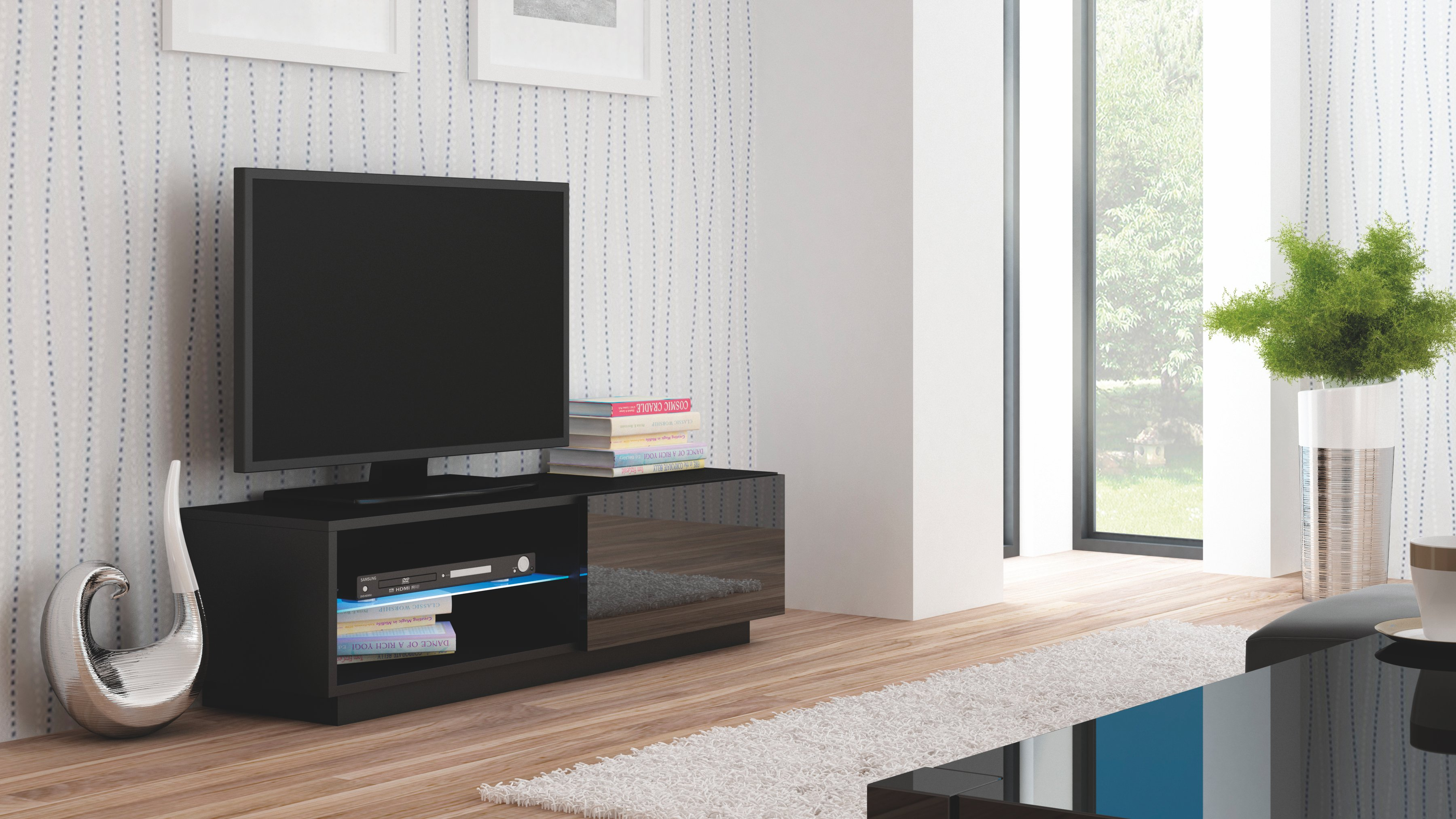 Comoda TV din MDF Livo RTV-120S Black