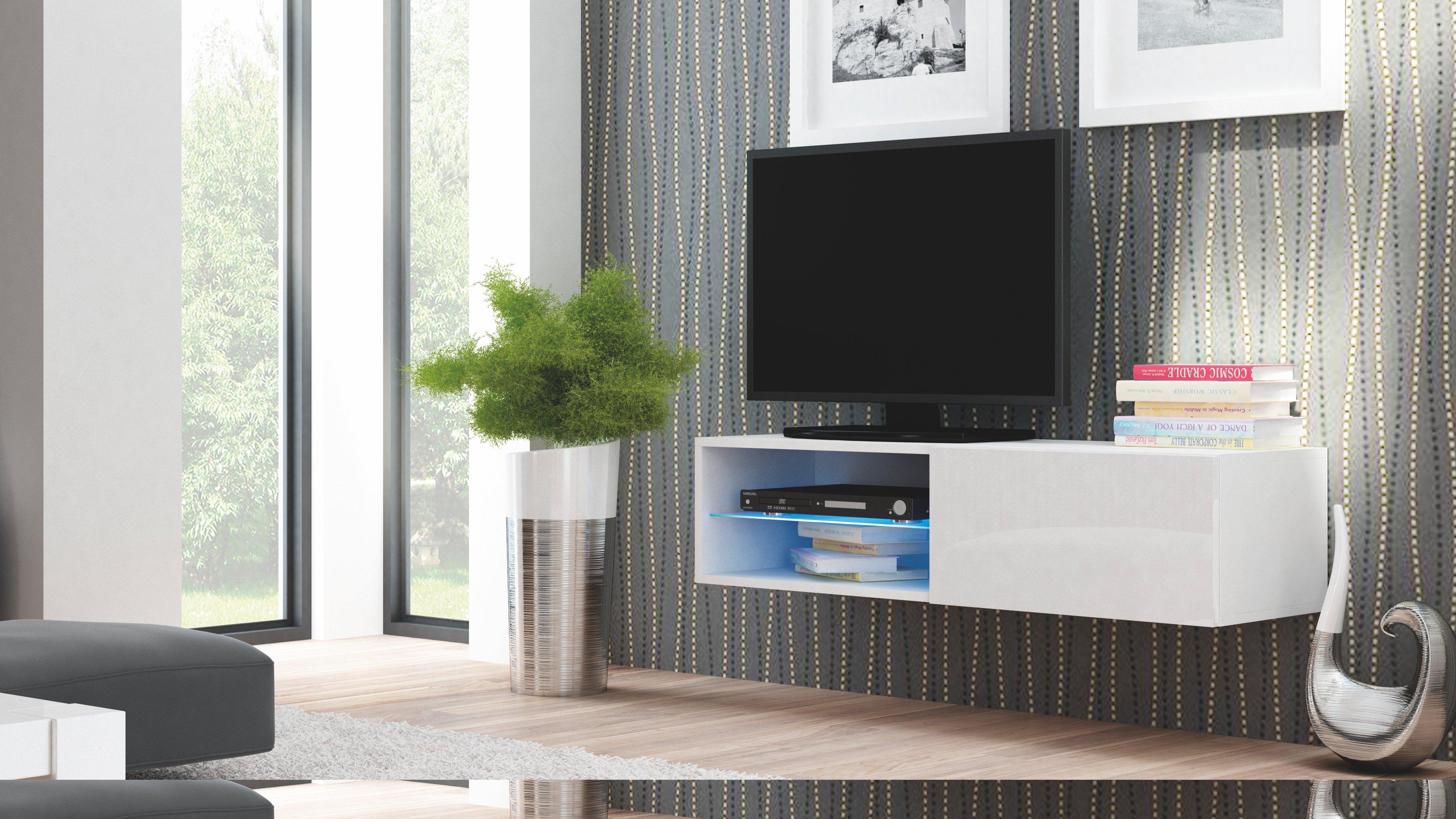 Comoda TV din MDF Livo RTV-120W White