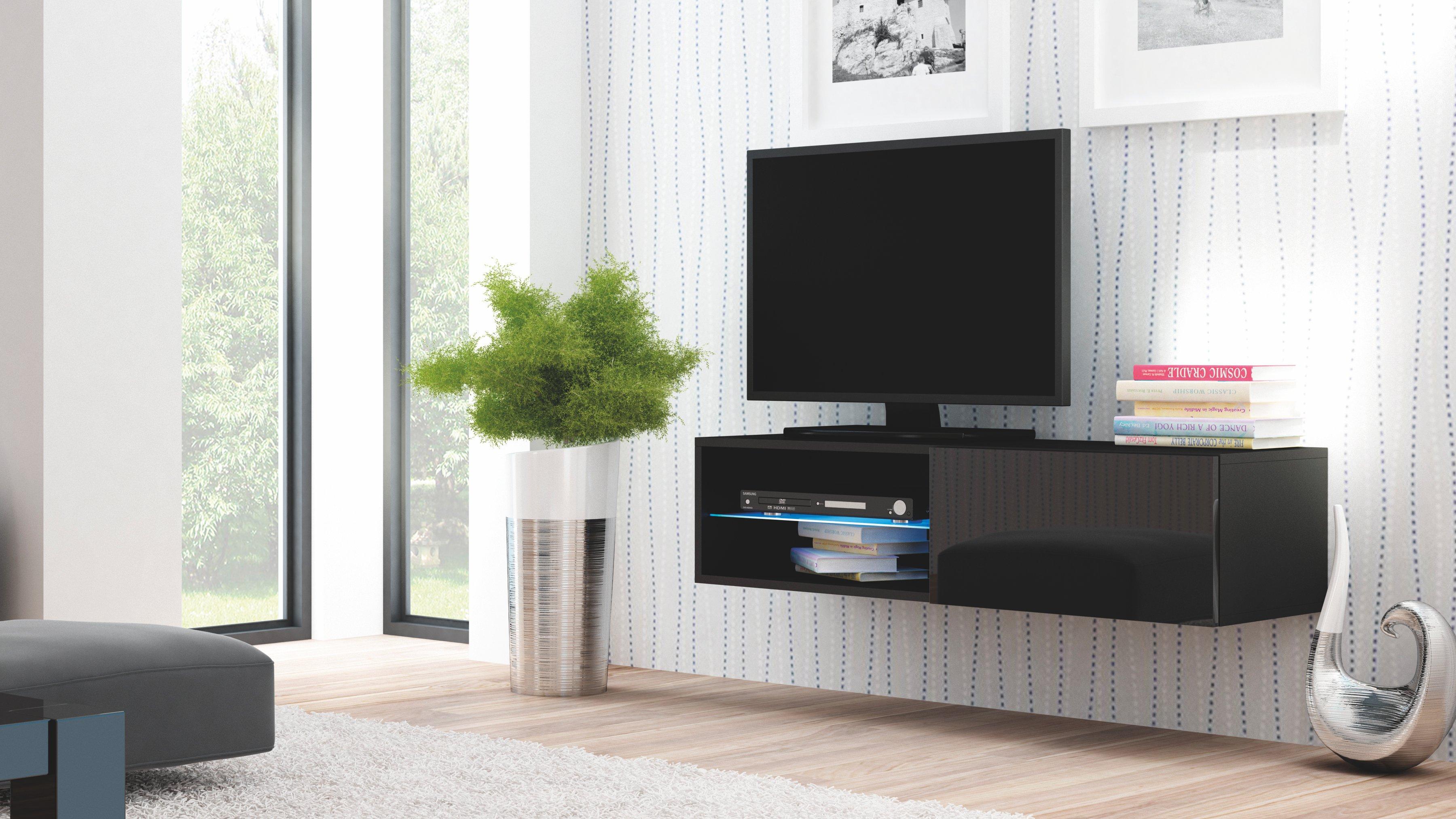 poze cu Comoda TV din MDF Livo RTV-120W Black