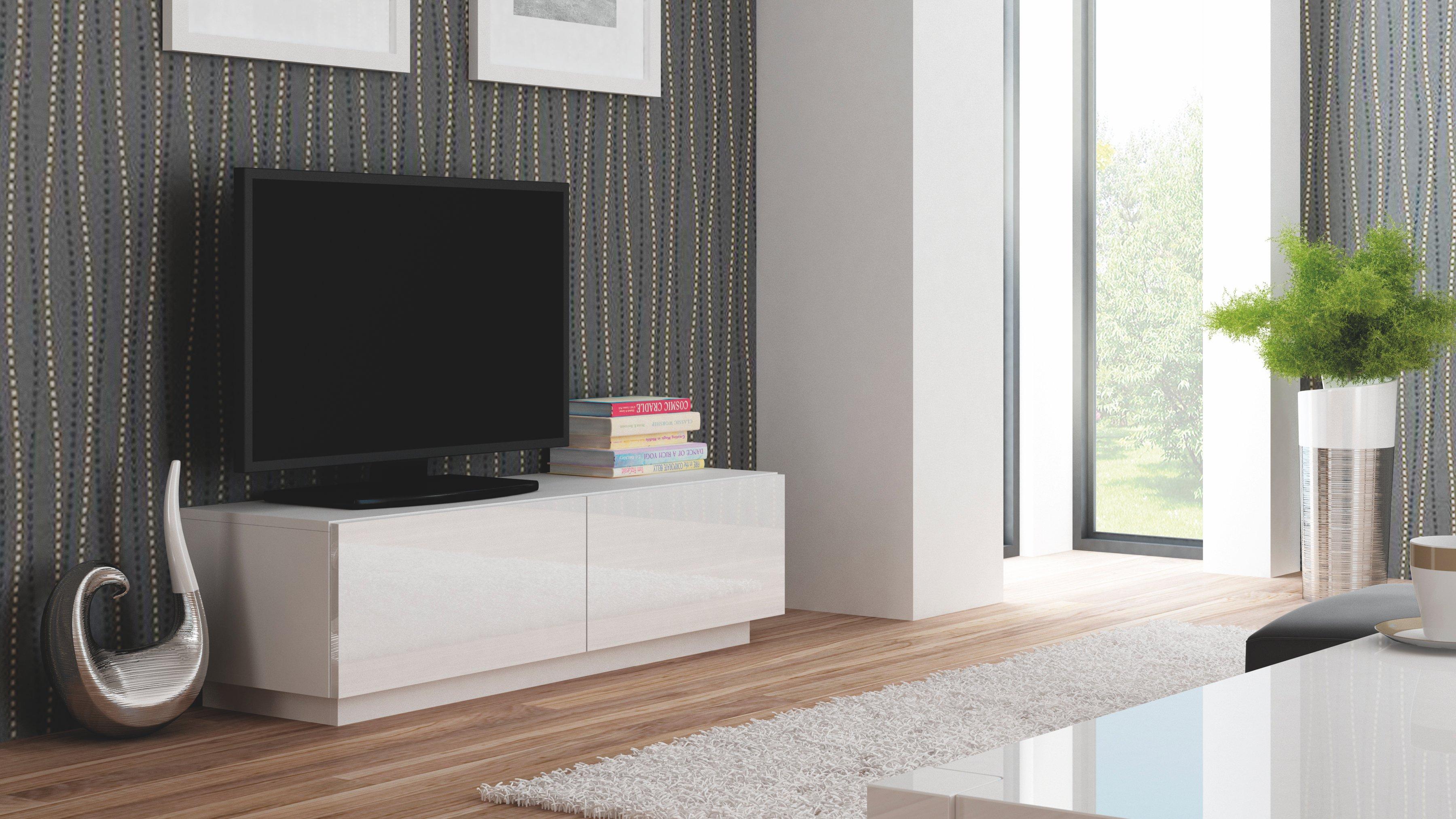 Comoda TV din MDF Livo RTV-160S White