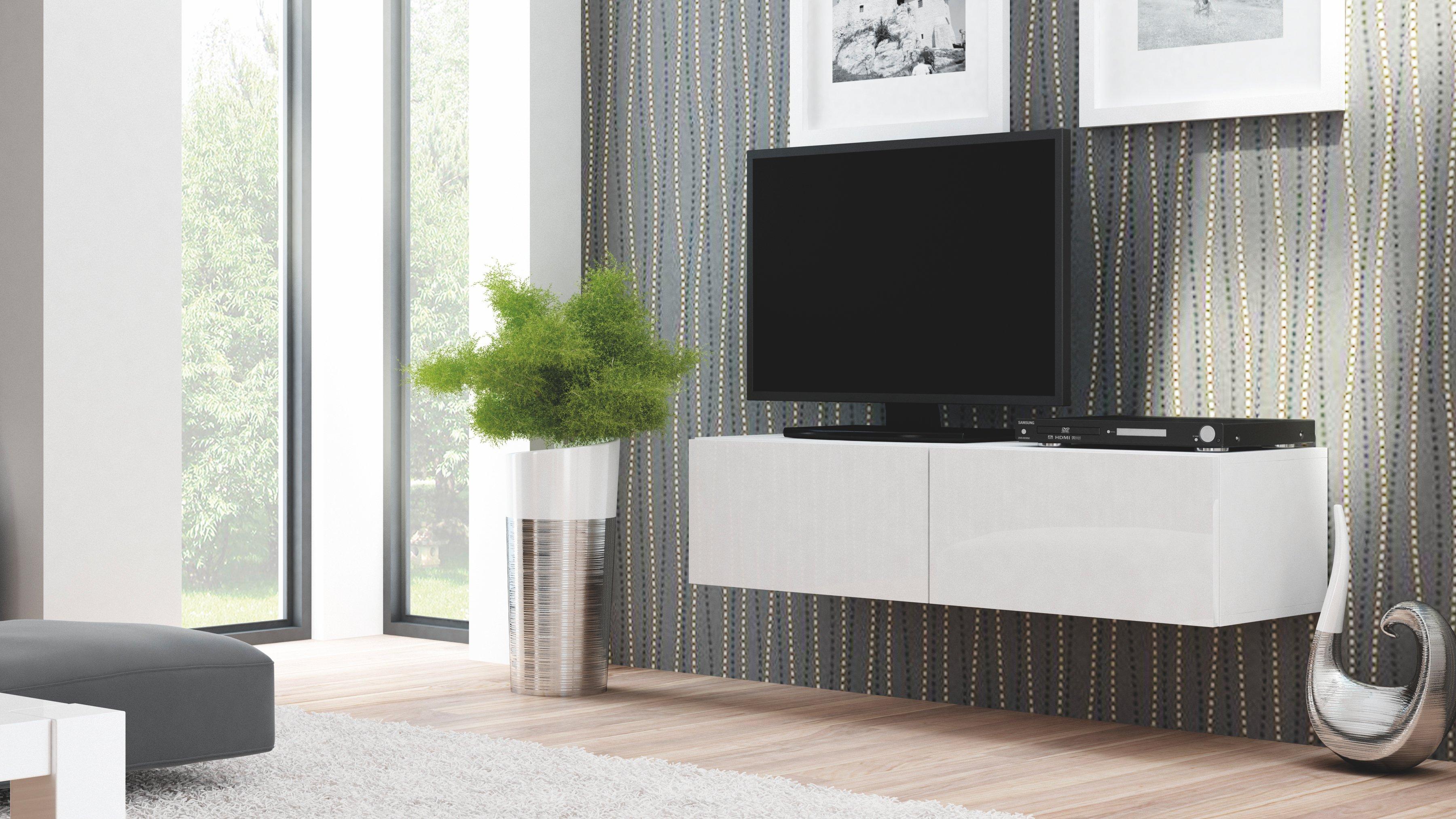 Comoda TV din MDF Livo RTV-160W White