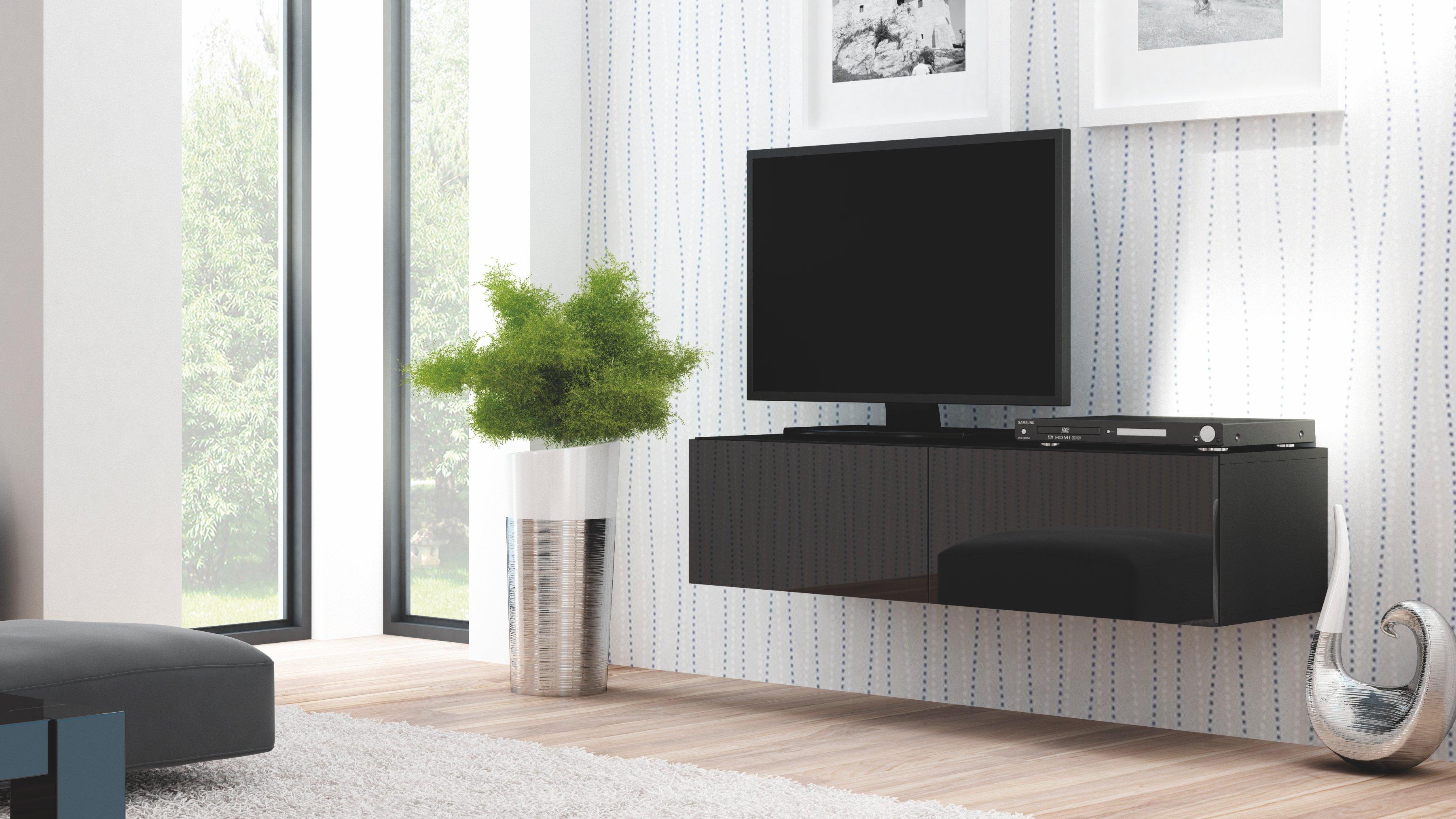 poze cu Comoda TV din MDF Livo RTV-160W Black