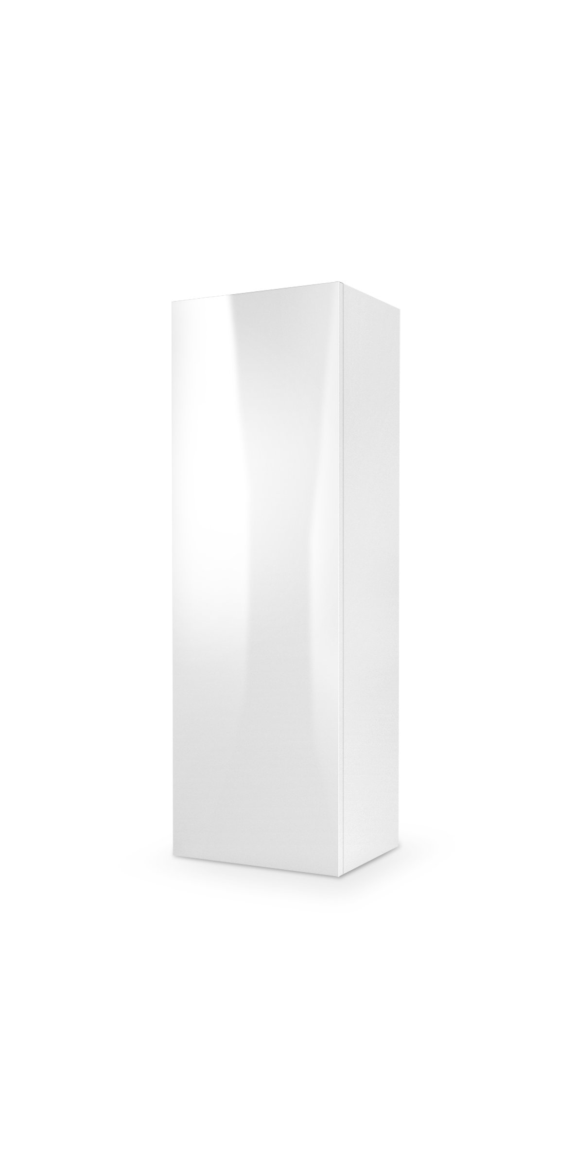 Cabinet suspendat din pal si MDF, cu 1 usa Livo S-120 White, l40xA30xH120 cm somproduct.ro