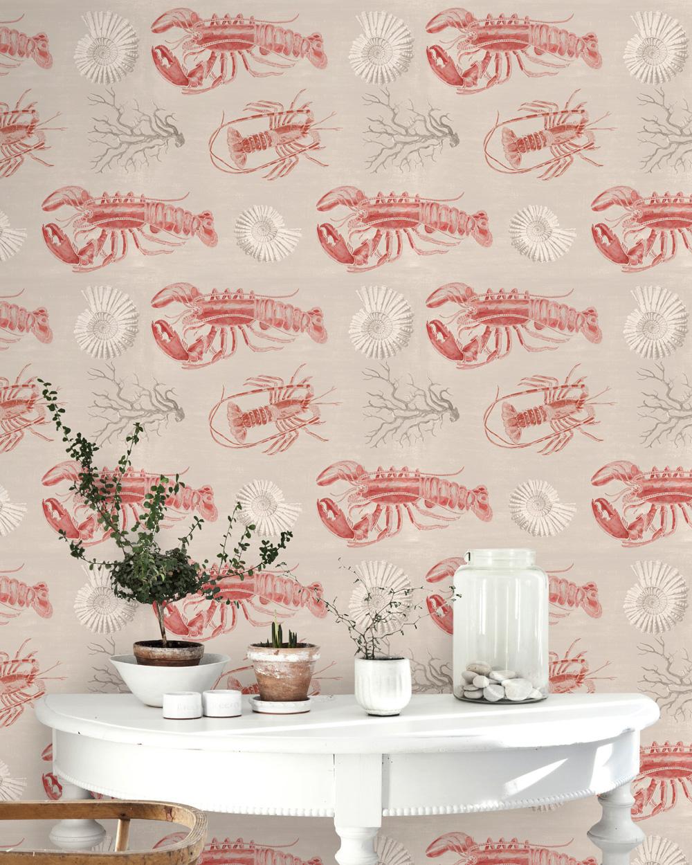 Poza Set Role Tapet Imprimat Digital Lobster Taupe