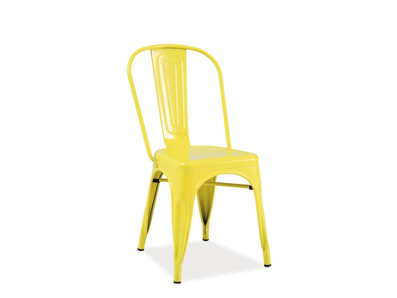 Scaun Din Metal Loft Yellow