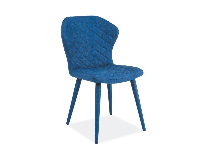 Scaun tapitat cu stofa Logan Blue