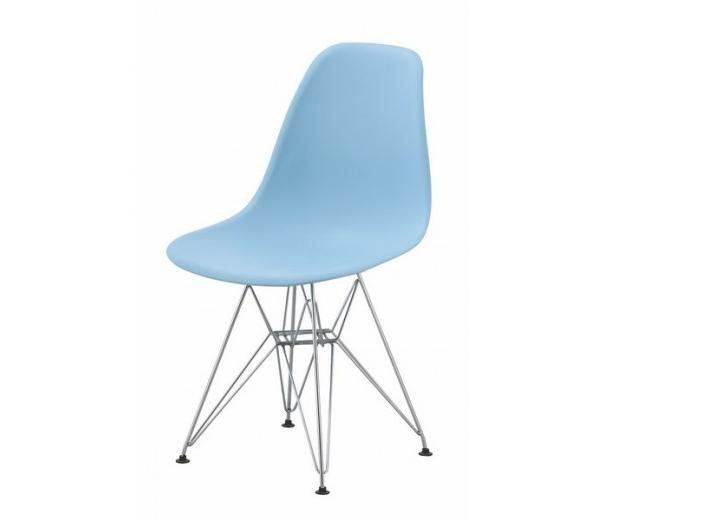 Scaun din plastic cu picioare de metal Lois Metal Blue l46xA37xH81 cm