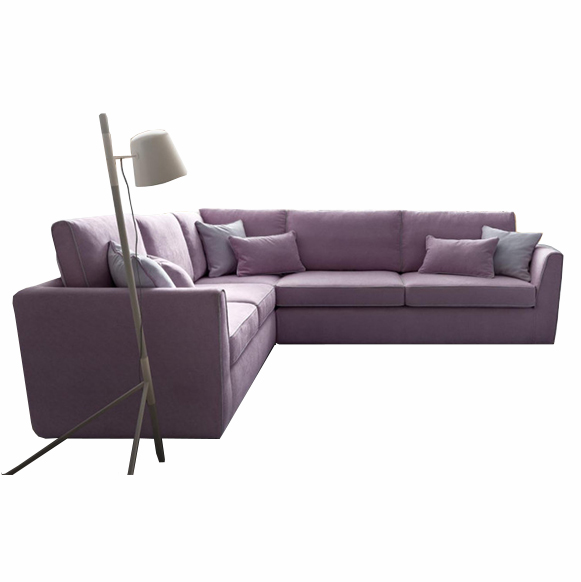 Coltar fix tapitat cu stofa Lola Violet, l241xA263xH85 cm imagine