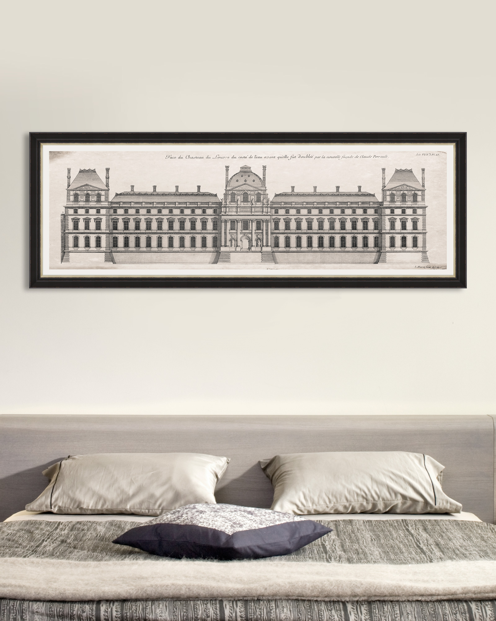 Tablou Framed Art Louvre Façade somproduct.ro