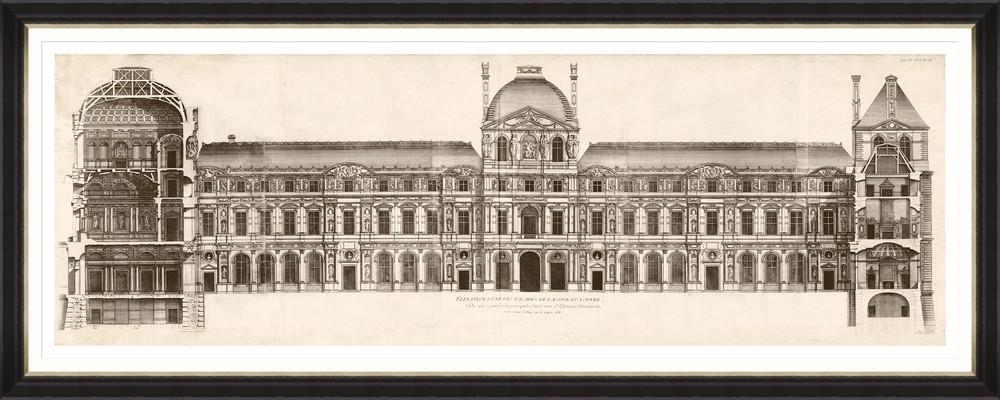 Tablou Framed Art Louvre Elevation 1756