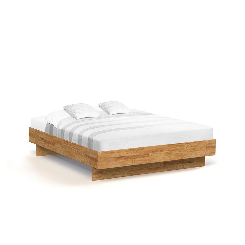 Pat din lemn masiv de stejar Vigo Frame natural