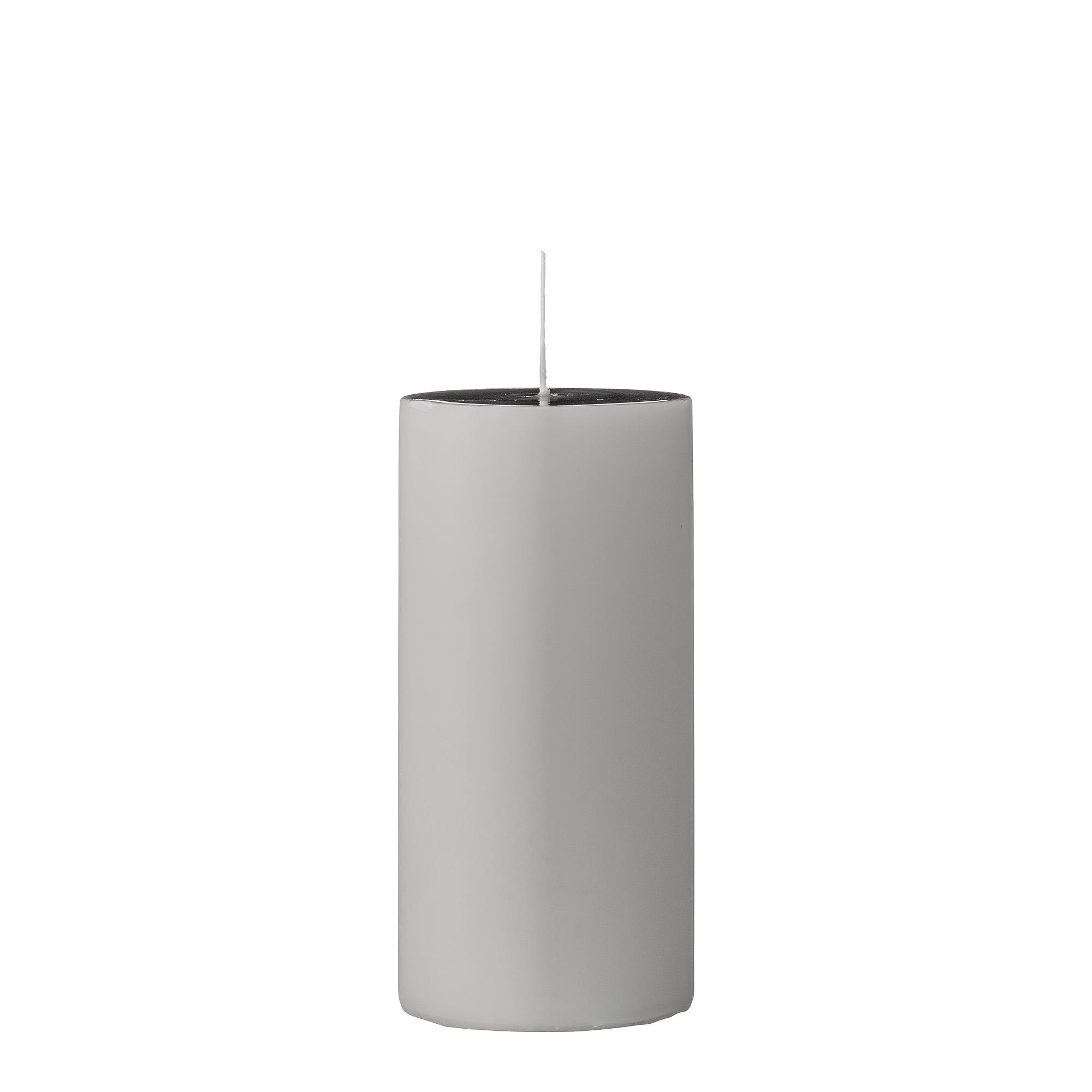 Lumanare Candle Grey O7xH15 cm