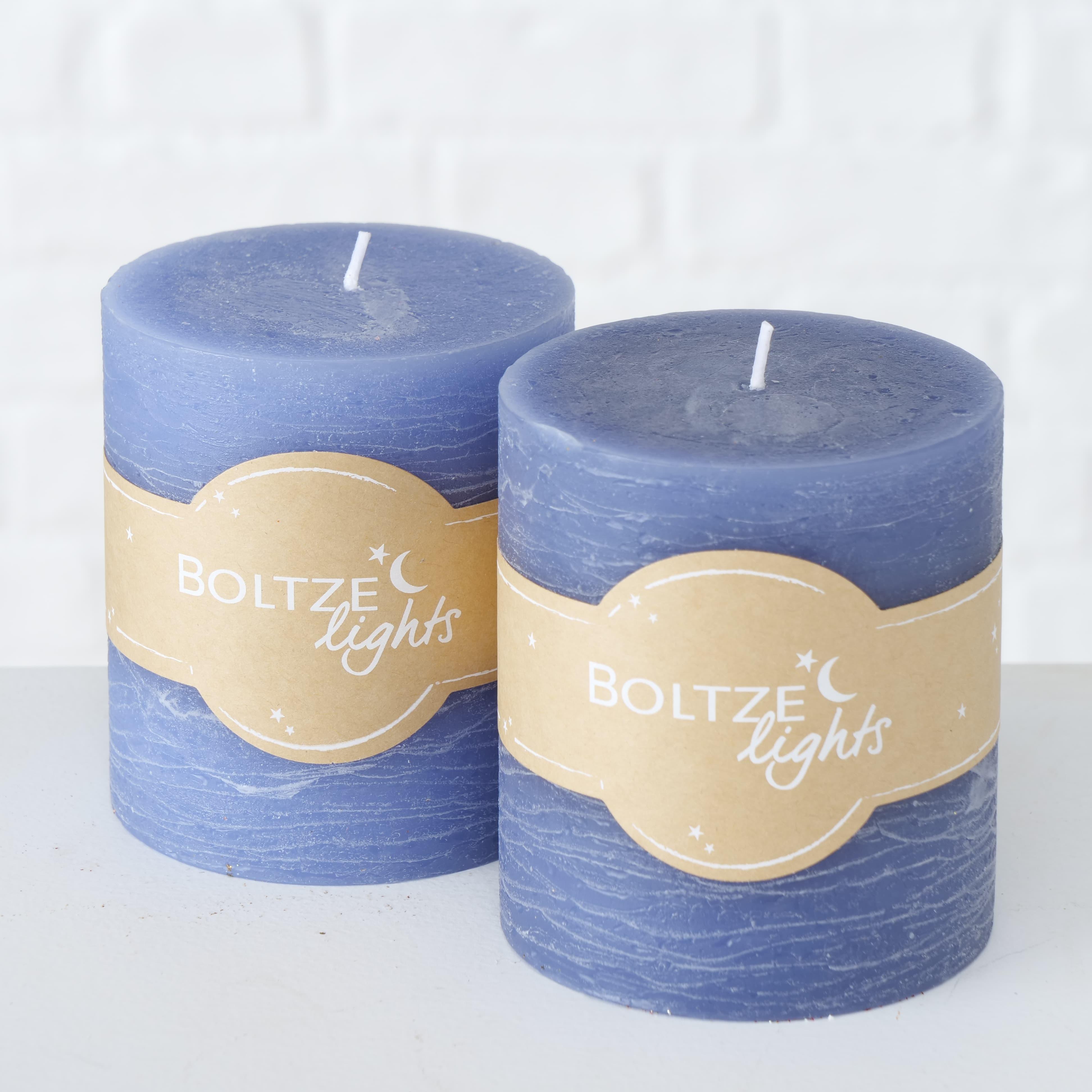 Lumanare decorativa Azure Small Albastru, Modele Asortate, Ø9xH10 cm