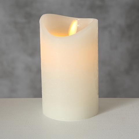 Lumanare decorativa cu LED Bino Crem, Ø7,5xH12 cm