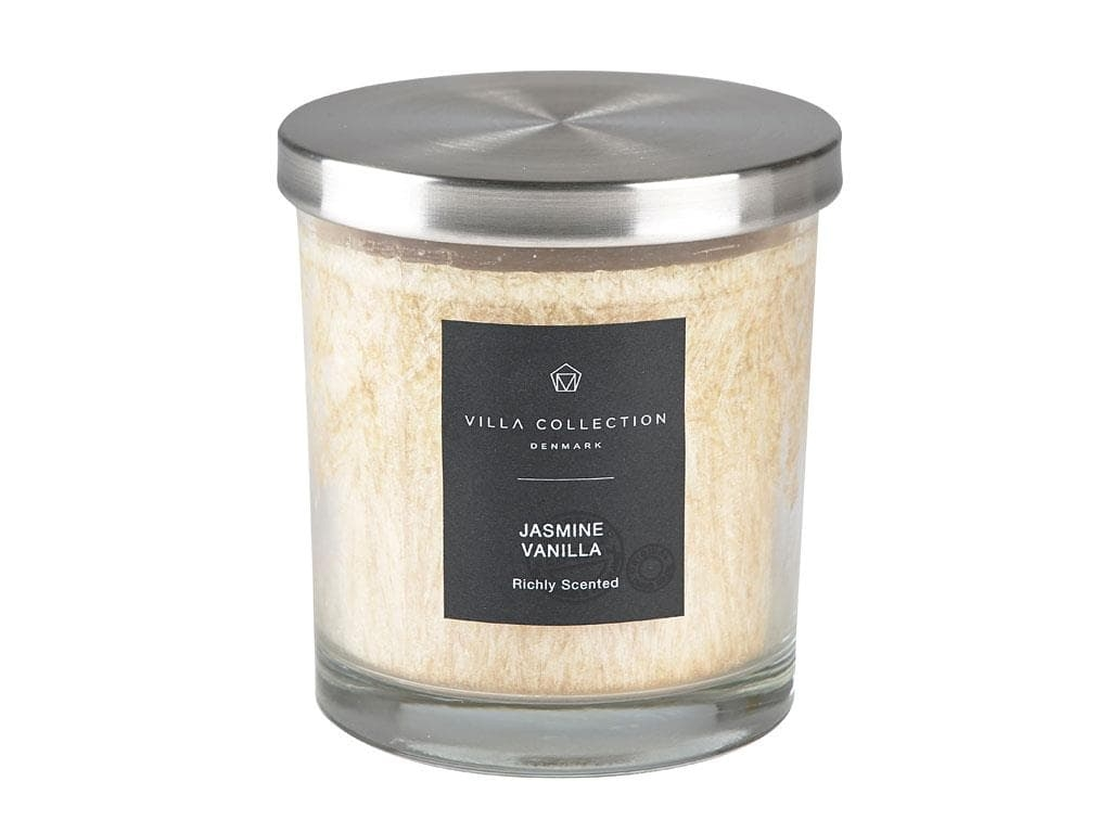 Lumanare parfumata in pahar Jasmine Vanilla 340643 Crem, Ø9xH10 cm, Villa Collection imagine