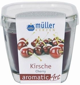 Lumanare parfumata in pahar, Aromatic Cirese Mov, L7xl7xH8 cm imagine