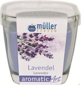 Lumanare parfumata in pahar, Aromatic Lavanda Lila, L7xl7xH8 cm