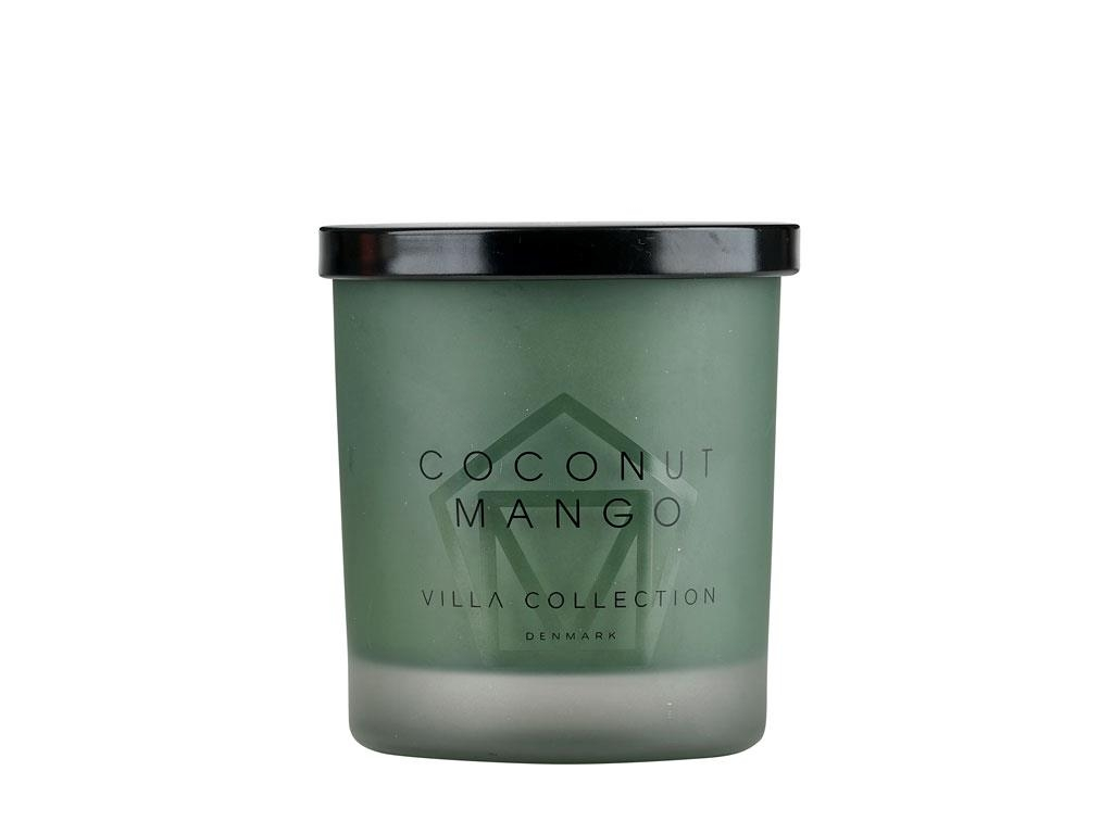 Lumanare parfumata in pahar Coconut Mango Large 14050 Verde, Ø9xH11 cm, Villa Collection imagine