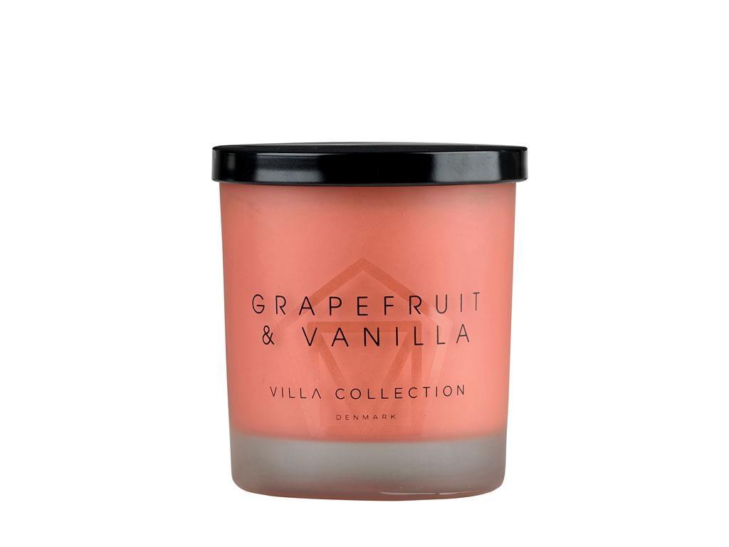 Lumanare parfumata in pahar Grapefruit Large 14049 Rosu, Ø9xH11 cm, Villa Collection poza