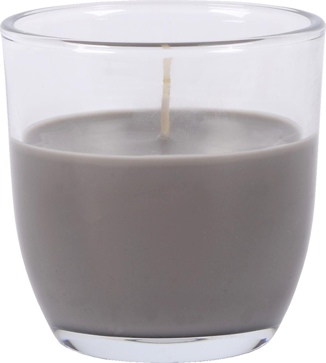 Lumanare parfumata in pahar Migdale Gri, Ø7,5xH7,5 cm poza