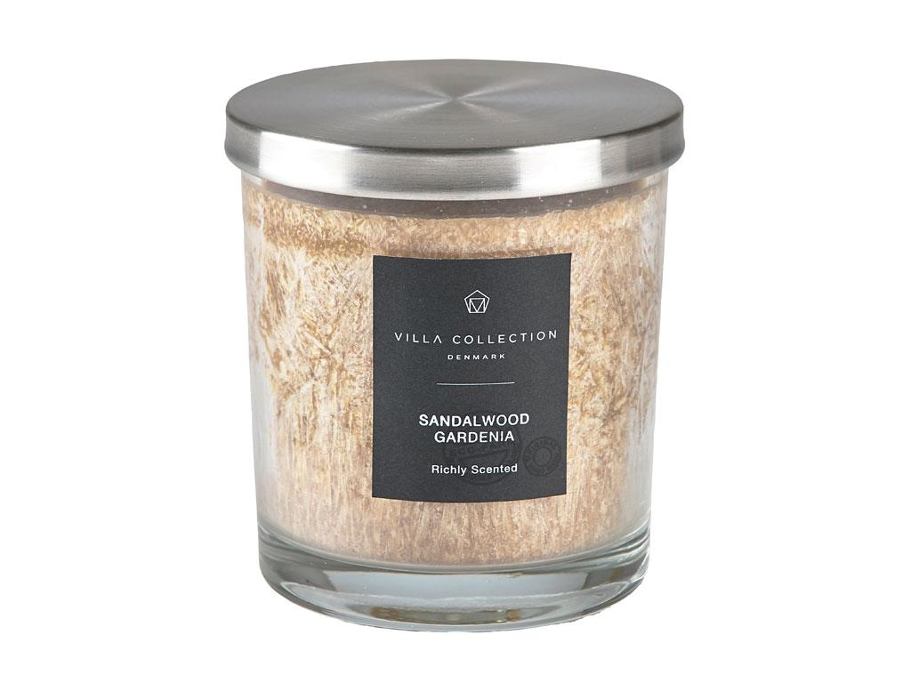 Lumanare parfumata in pahar Sandalwood Gardenia 340644 Caramel, Ø9xH10 cm, Villa Collection imagine