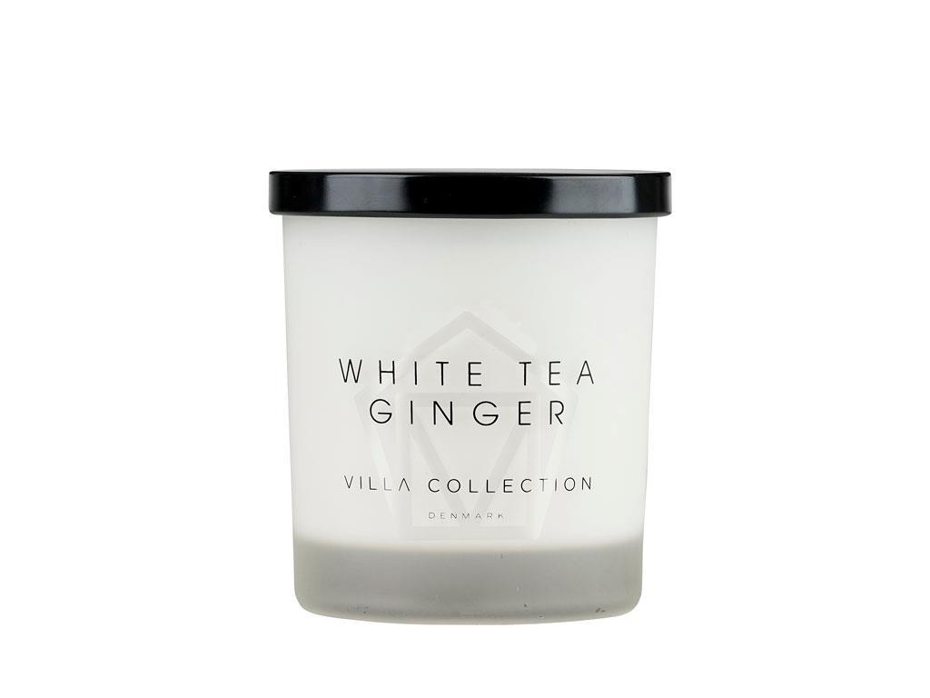 Lumanare parfumata in pahar Tea Ginger Large 14048 Alb, Ø9xH11 cm, Villa Collection imagine