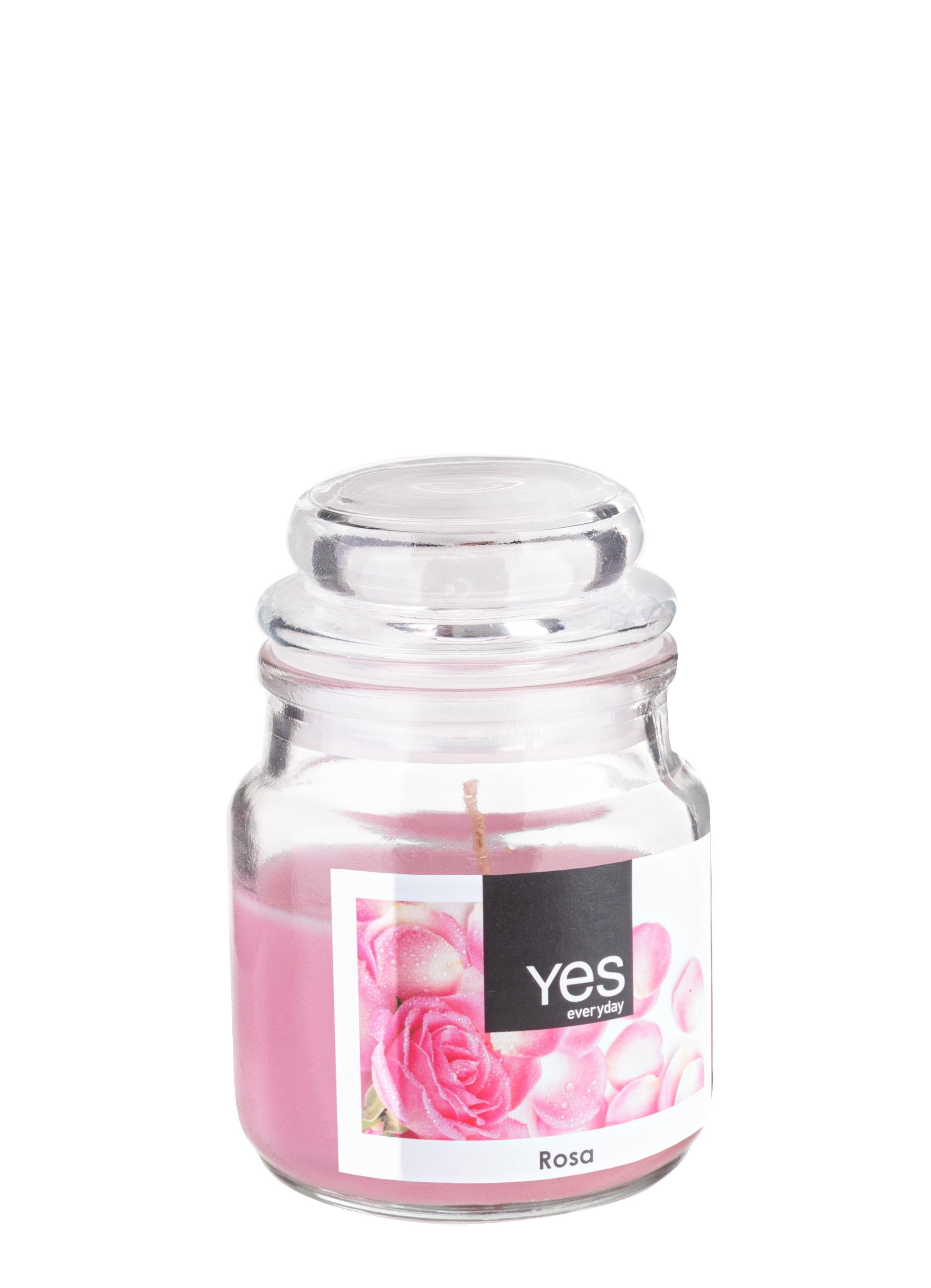 Lumanare parfumata Jug Roz, Ø6xH8 cm imagine