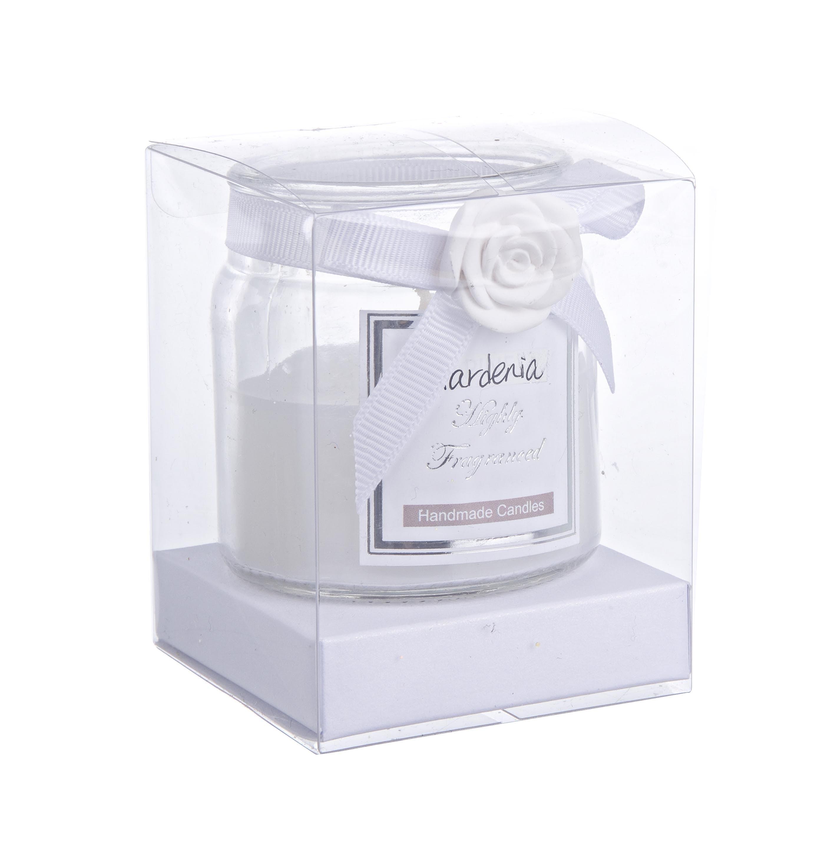 Lumanare parfumata Rosabel Alb, Ø6xH6,6 cm imagine
