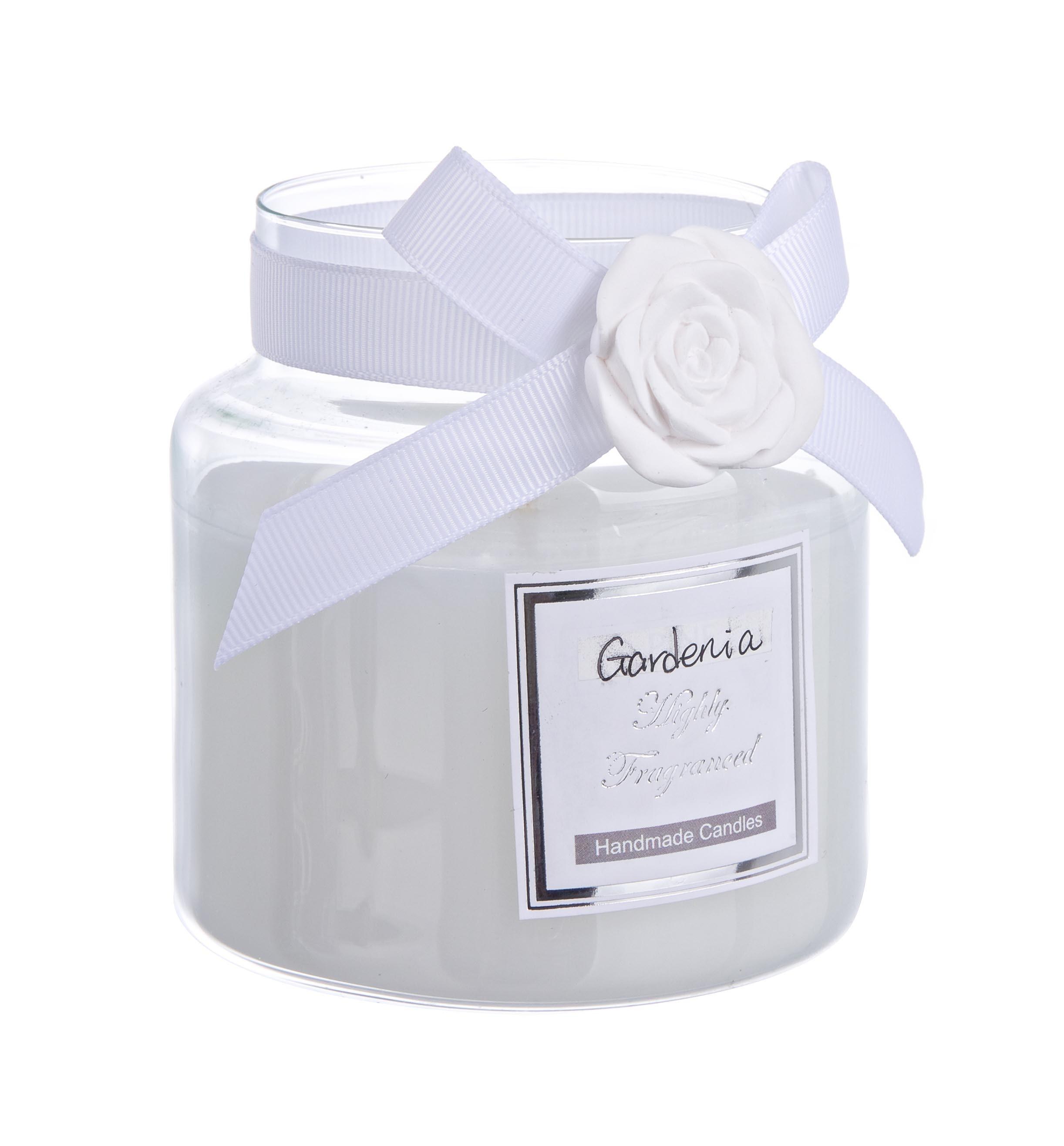 Lumanare parfumata Rosabel Alb, Ø8,2xH8,9 cm