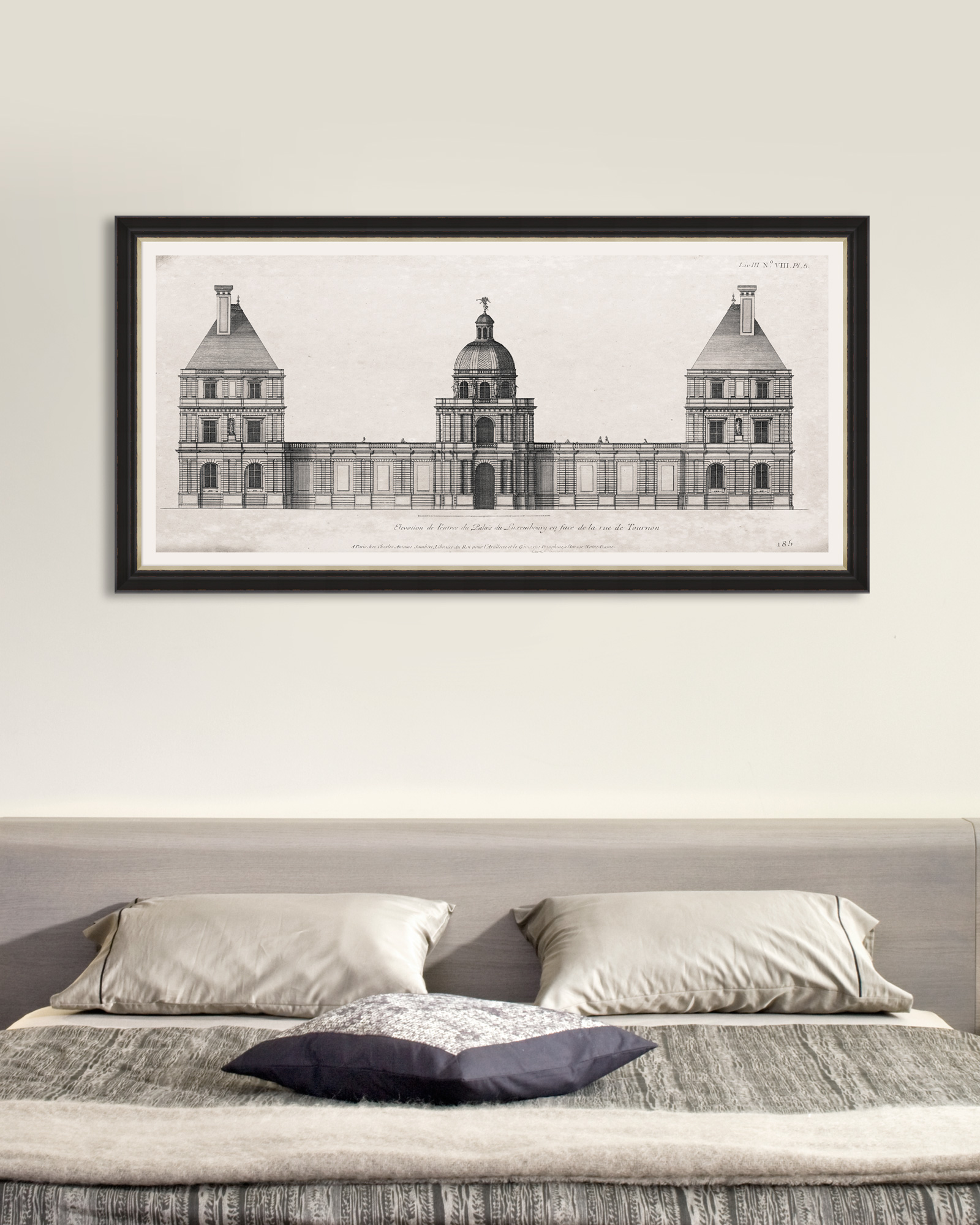 Tablou Framed Art Luxembourg Palais Elevation