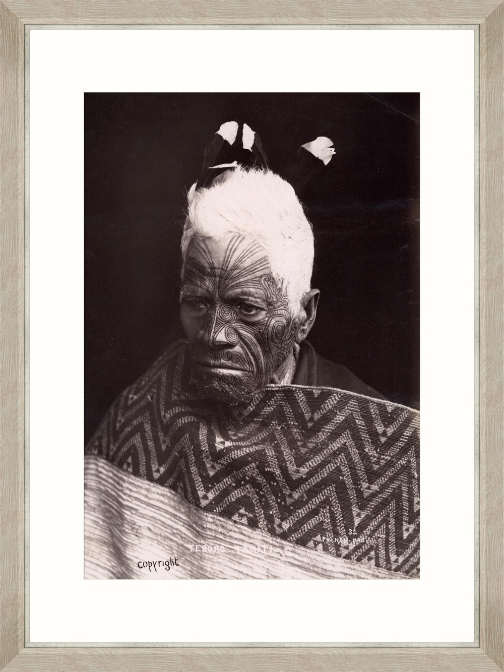 Tablou Framed Art Maori Chief Teroror