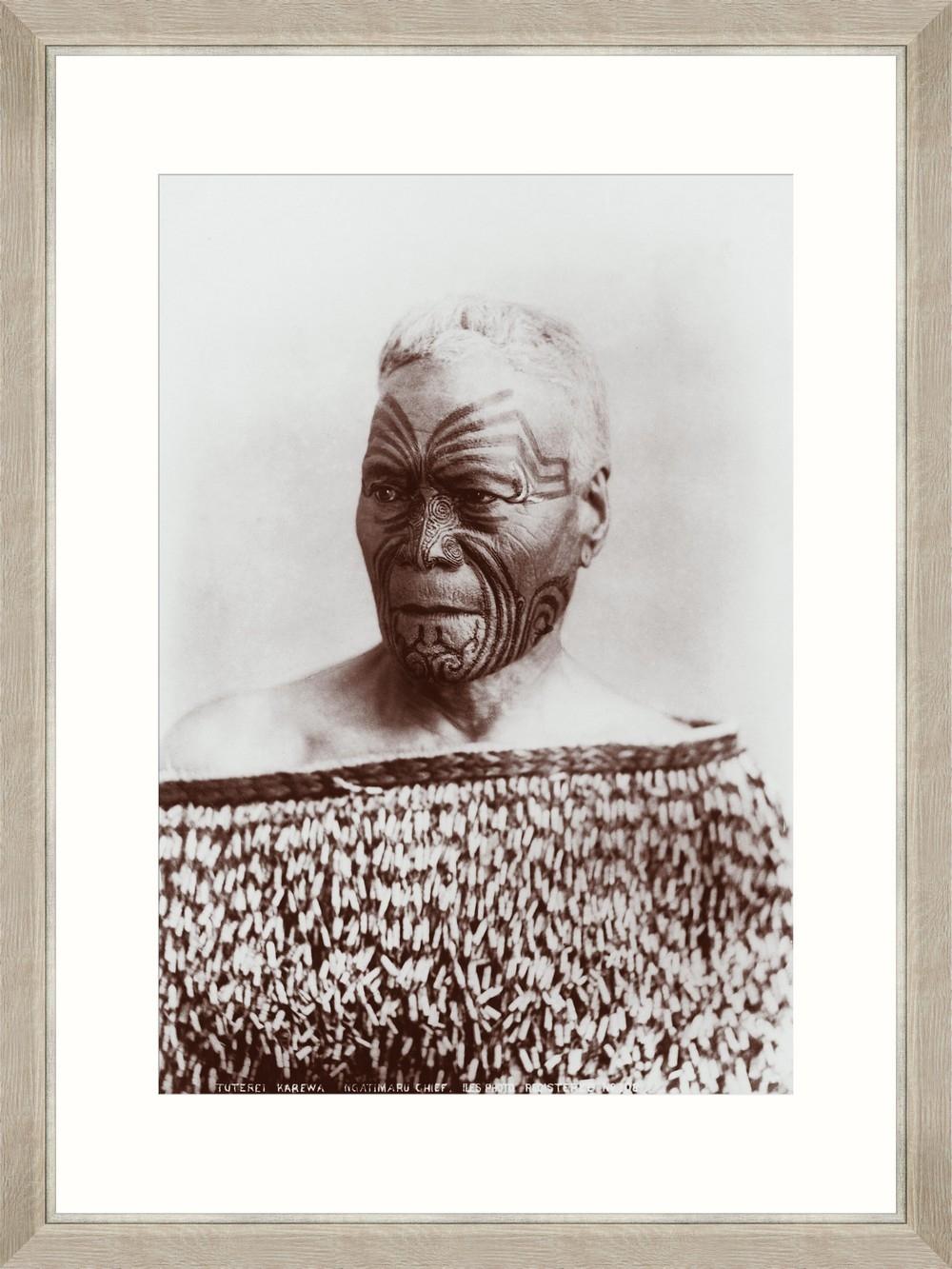 Tablou Framed Art Maori Chief Tuterei
