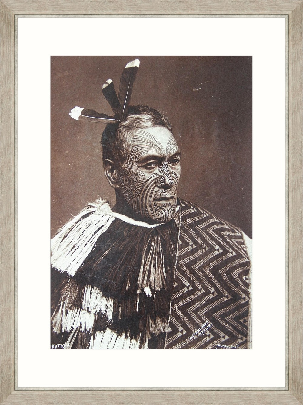 Tablou Framed Art Maori Chief Wetani