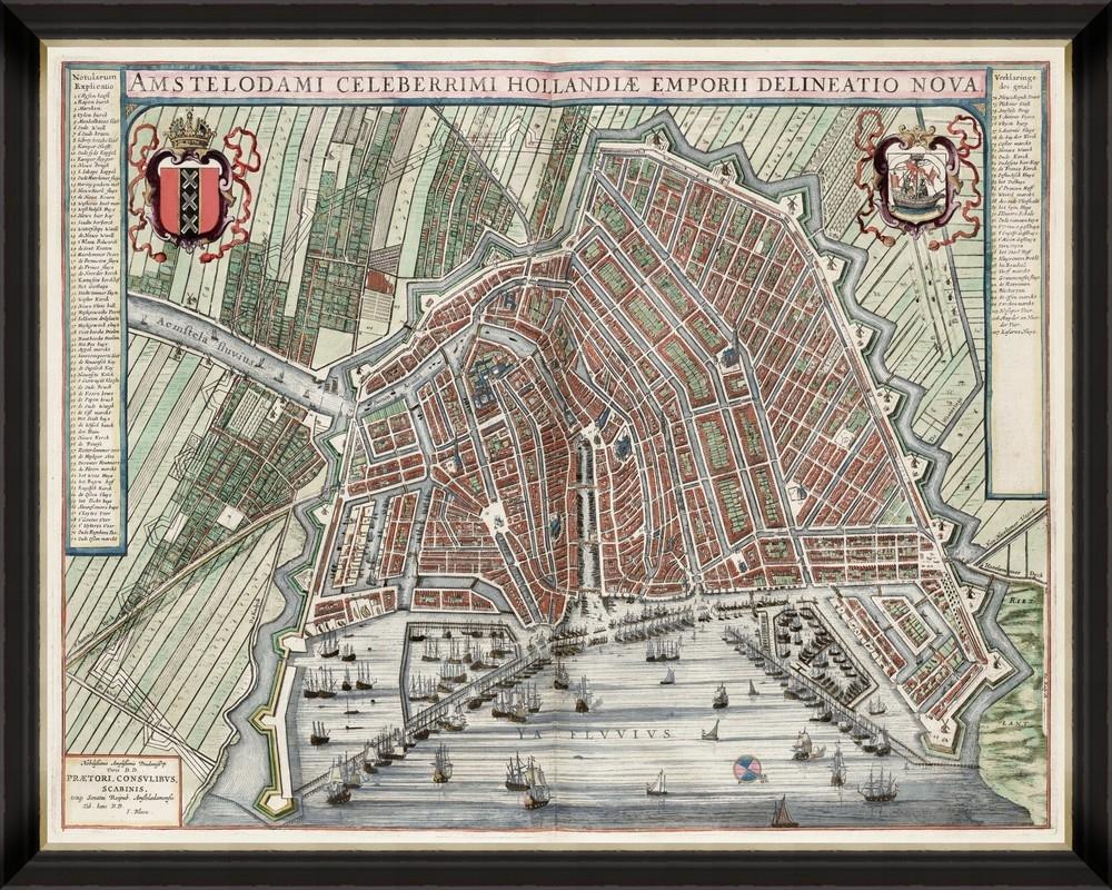 Tablou Framed Art Map Of Amsterdam