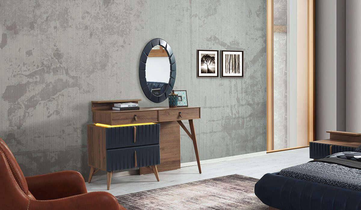 Comoda cu oglinda din MDF si lemn Marcelo