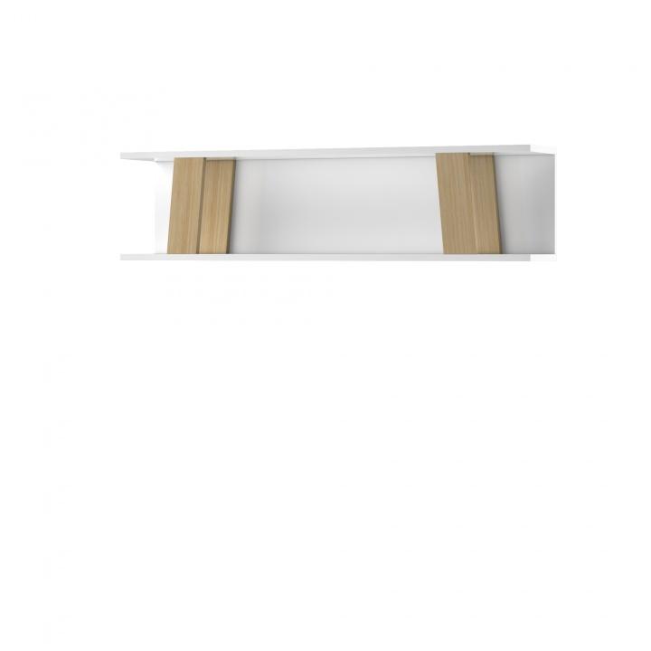 Etajera Magh White, L120xl22xh30 cm