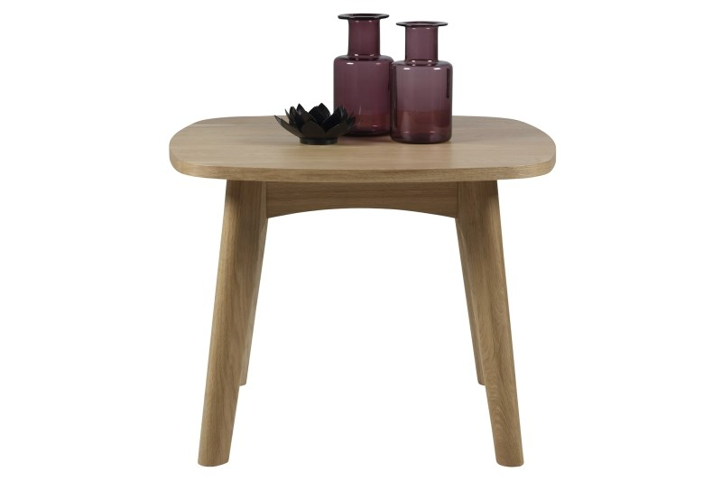Masuta din lemn si furnir Marte Dark Oak, L58xl58xh49 cm