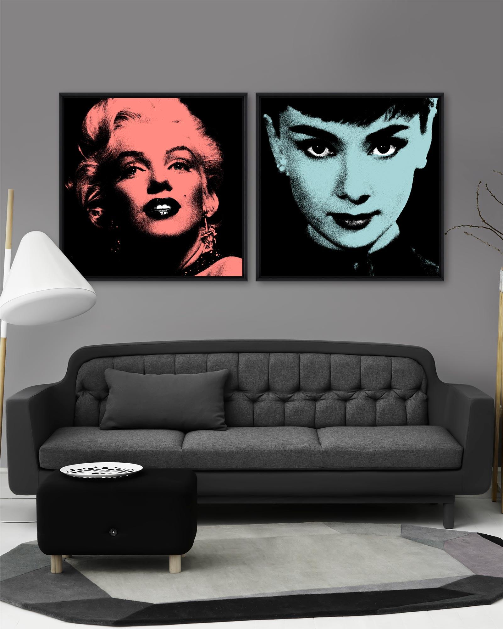 Tablou 2 piese Framed Art Marilyn & Audrey imagine