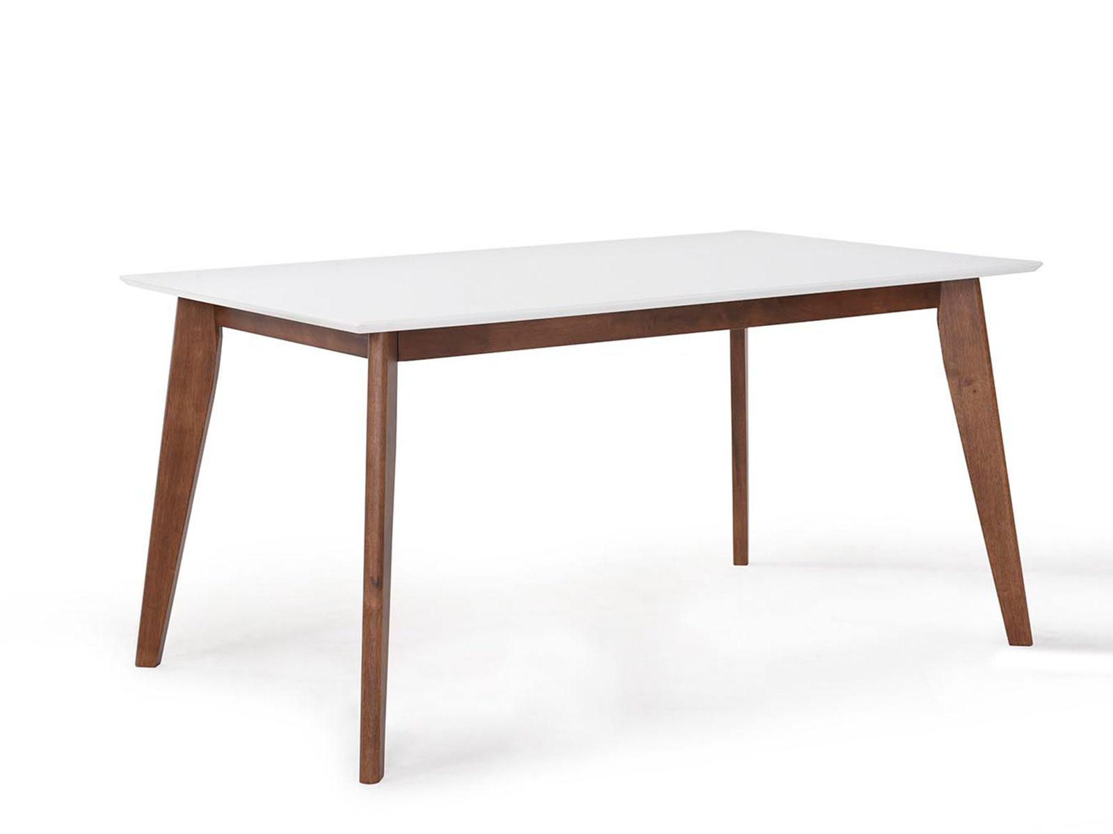 Masa din MDF si furnir Ivonne Walnut/White L150xl90xh75 cm