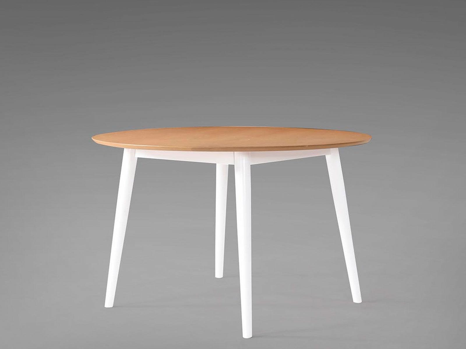 Masa din MDF si furnir Julie White/Beech O120xh75 cm