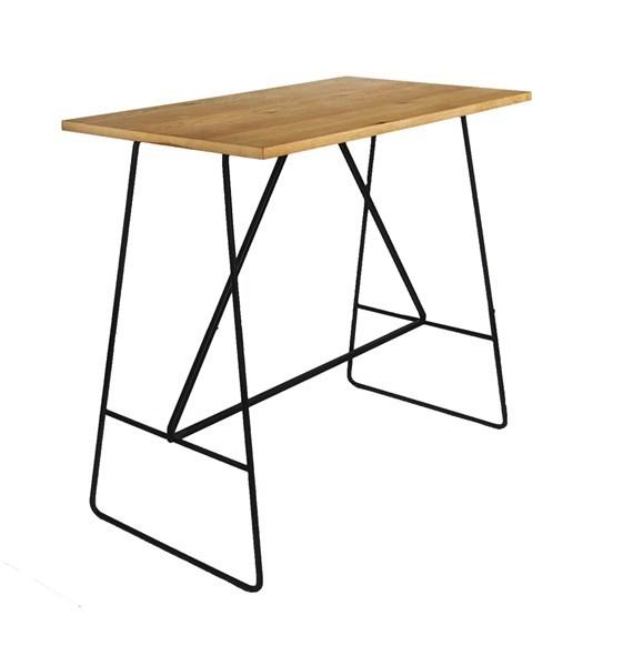 Masa Bar Furnir Metal Stejar Negru - 9880