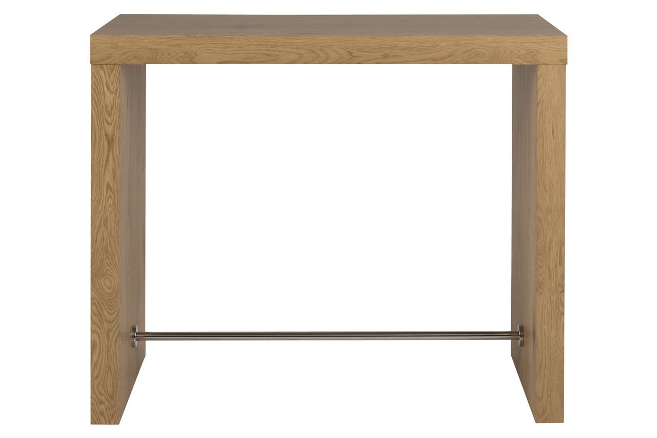 Masa de bar din MDF Block Stejar, L130xl60xH105 cm imagine