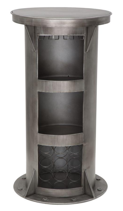 Masa de bar din metal Bolt Dark Grey O60xH110 cm
